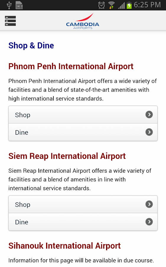 Cambodia Airports- screenshot