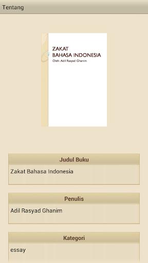 Zakat Bahasa Indonesia
