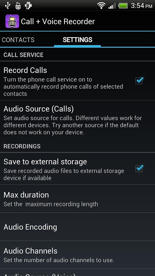Call + Voice Recorder Pro- screenshot