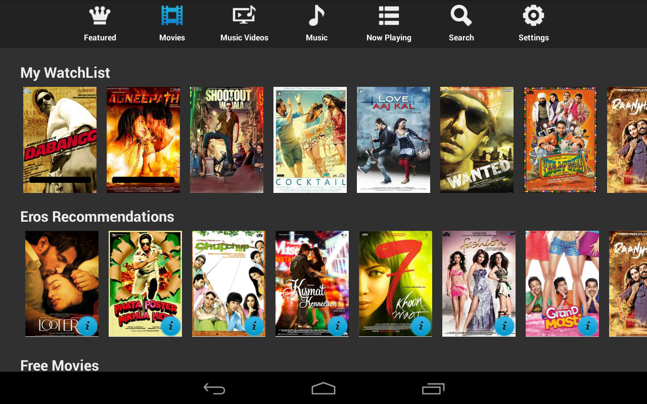Eros Now: Watch Indian Movies - screenshot