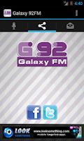 Screenshot of Galaxy 92FM
