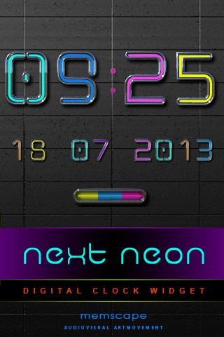 NEXT NEON Digital Clock - screenshot