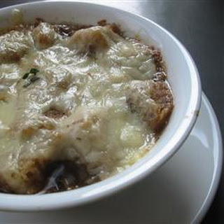 Vegetarian French onion soup.