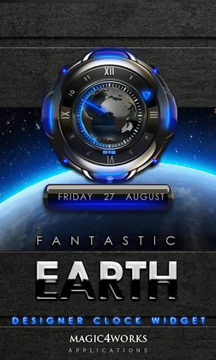 Earth designer Clock Widget