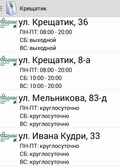 ATMs Kiev - screenshot