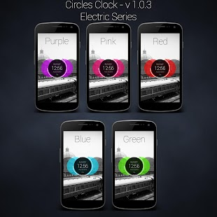 Circles Clock - UCCW Skin- screenshot thumbnail