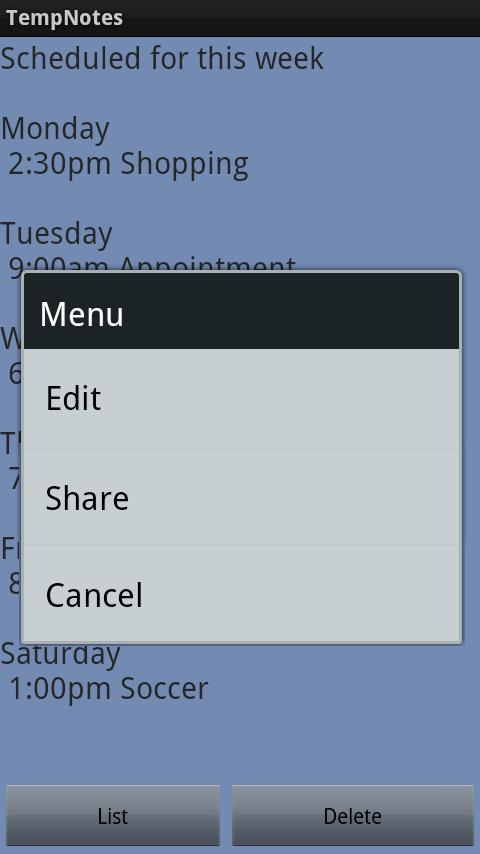 TempNotes Notepad Notes todo- screenshot