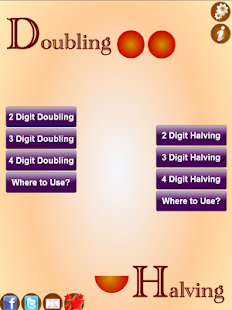 Doubling And Halving