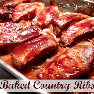 Baked Country Ribs.