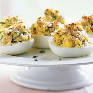French-Style Stuffed Eggs.