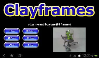 Screenshot of Clayframes Lite - stop motion