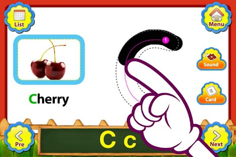 ABC Fruits English Flashcards- screenshot thumbnail