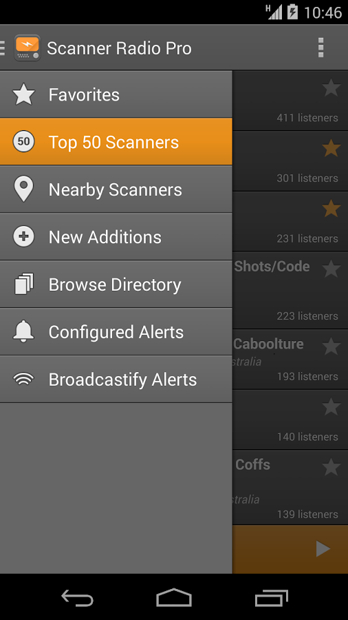 Scanner Radio Pro - screenshot