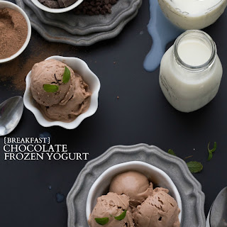 {Breakfast} Chocolate Frozen Yogurt