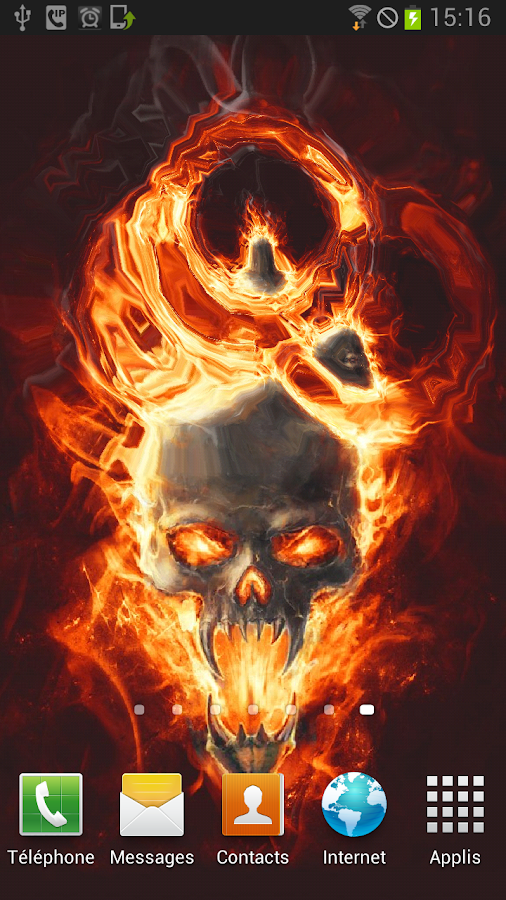 Skull In Fire LWP Animated - screenshot