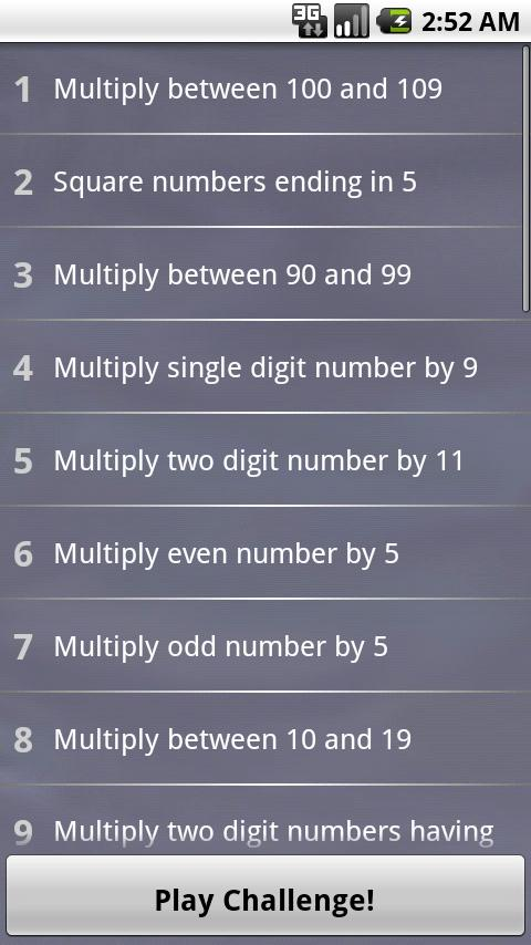 Fun Math Tricks !! - screenshot