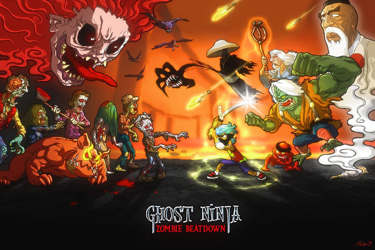 Ghost Ninja:Zombie Beatdown - screenshot