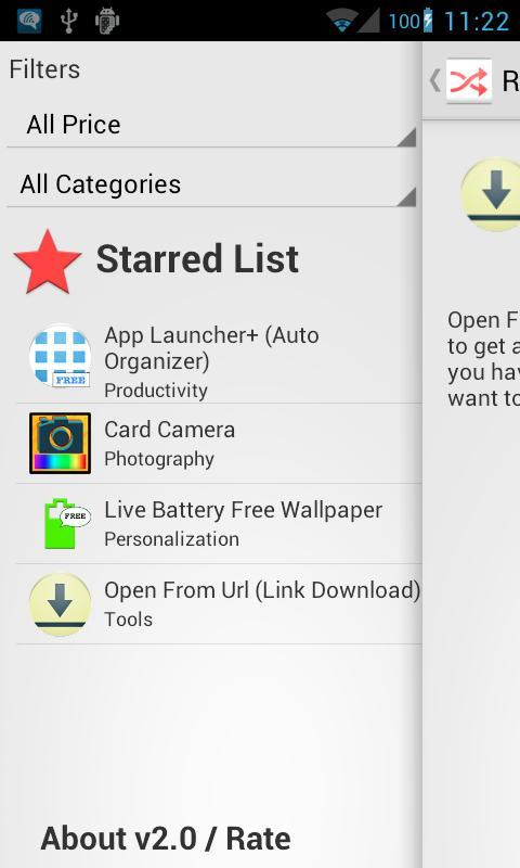 Random App (Apps Discovery) – Screenshot