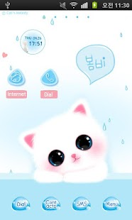 CUKI Theme Sky blue cat