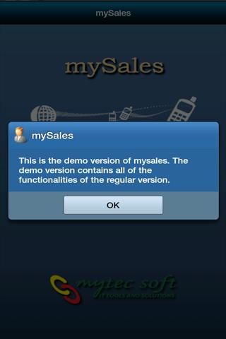 mySales - screenshot