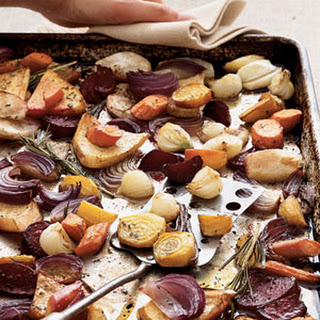 Balsamic-Rosemary Roasted Root Vegetables.