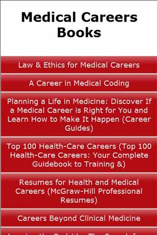 Medical Careers Books