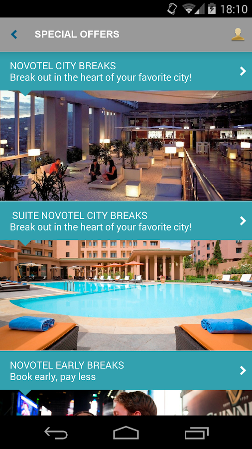 Novotel Hotels - screenshot