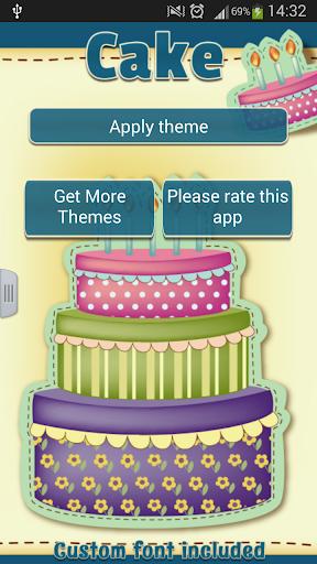 GO短信加强版蛋糕