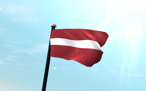 Latvia Flag 3D Free Wallpaper - screenshot thumbnail