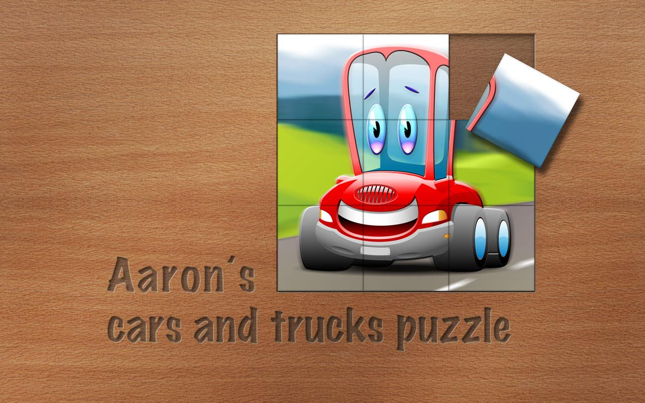 Aaron's cars and trucks puzzle- screenshot