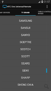 Universal Remote for HTC One - screenshot thumbnail
