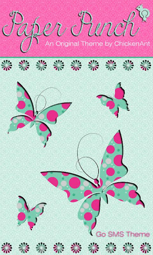 Spring Butterfly Theme GO SMS