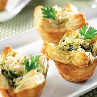 Spinach, Crab & Artichoke Mini Tarts