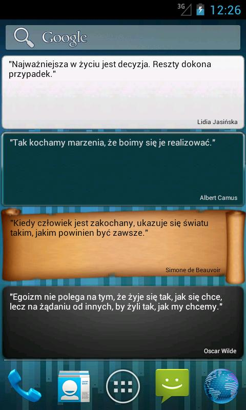 Aphorisms and quotations (PL)- screenshot