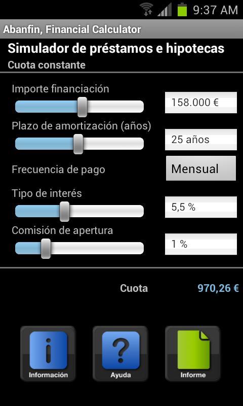 Abanfin Financial Calculator- screenshot