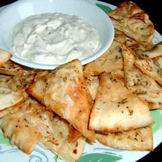 Garlic Pita Bread Bites.