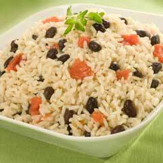 Rice Saute With Black Beans & Tomatoes.