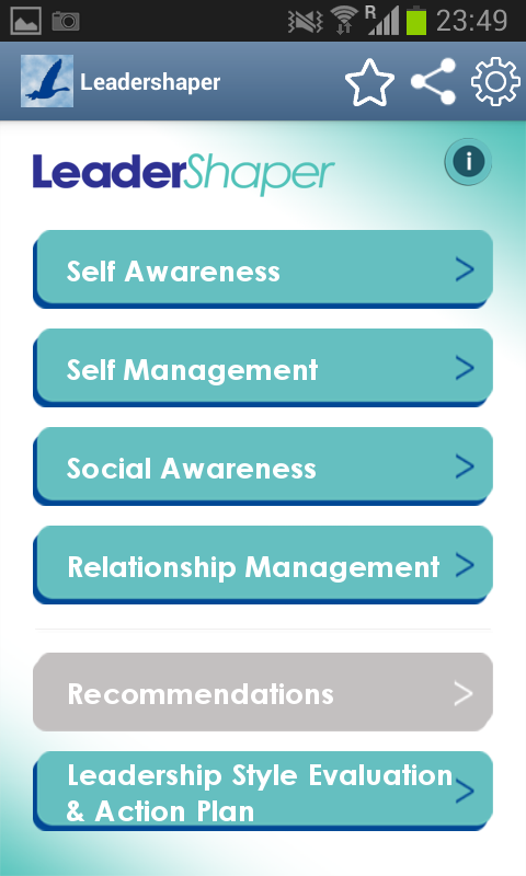 Leadershaper App- screenshot