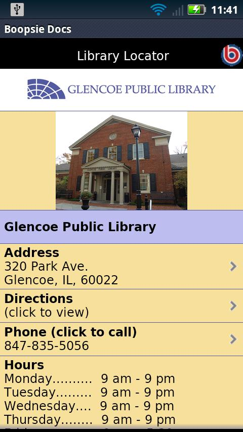 Glencoe Public Library- screenshot