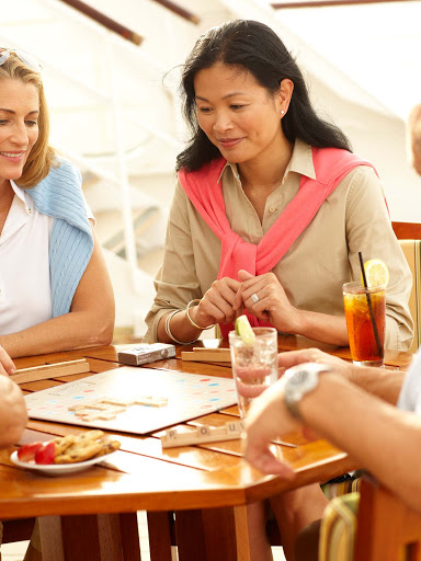 People-Lifestyle-Guests-on-Deck-1 - Spend time outdoors and enjoy meeting people and playing games on deck on Crystal Symphony.