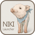 Nikki pigs go launcher theme icon