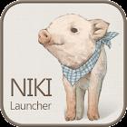 Nikki pigs go launcher theme icon