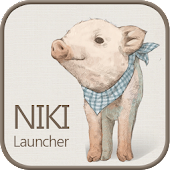 Nikki pigs go launcher theme