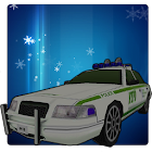 Car winter parking - 3D game icon