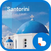 Santorini Buzz Launcher Theme