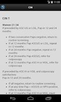 Screenshot of Pap App