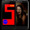 Scary maze icon