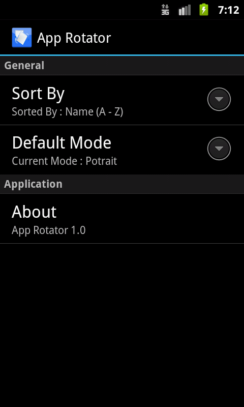 App Rotator - screenshot