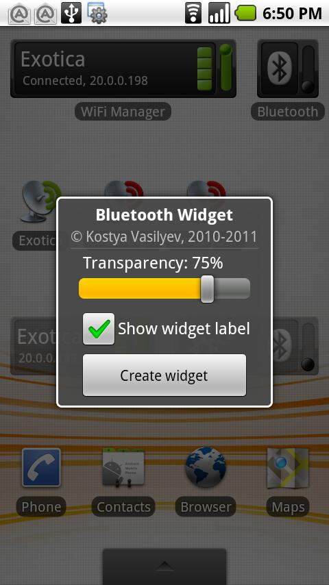 Bluetooth Widget - screenshot