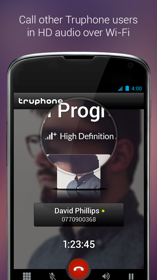 Truphone- screenshot